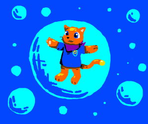 Cat person in the bubble void