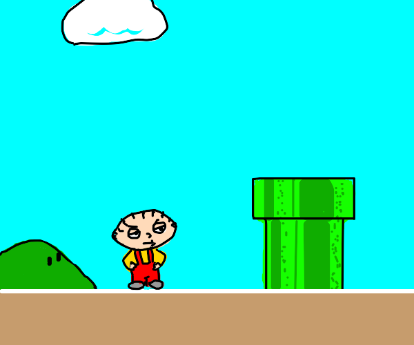 Stewe from family guy in Mario world
