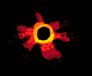 that one picture of a black hole