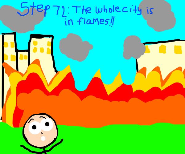 Step 71: Light a better fire