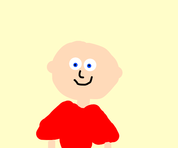Bald Kid in Red Shirt