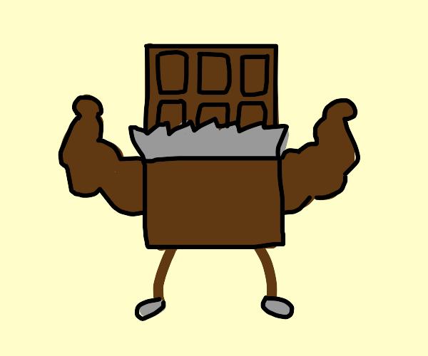 Muscular chocolate bar