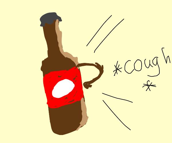 Beer bottle coughs