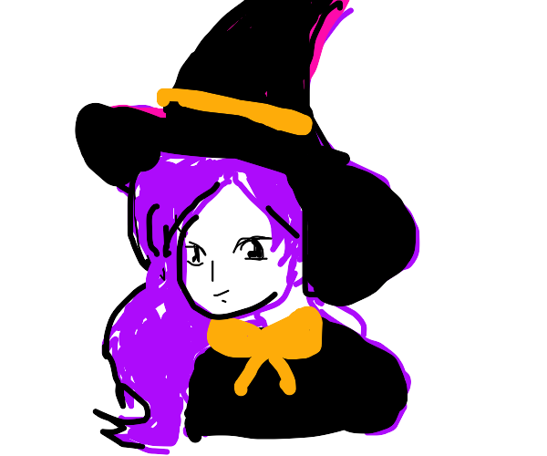 Misato Katsuragi is dressed as a witch