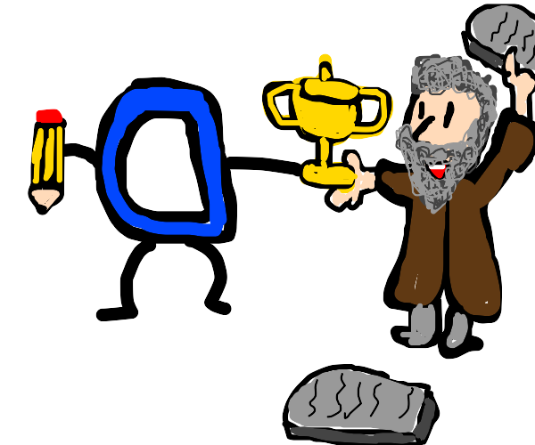 Backwards Drawception gives trophy to Moses