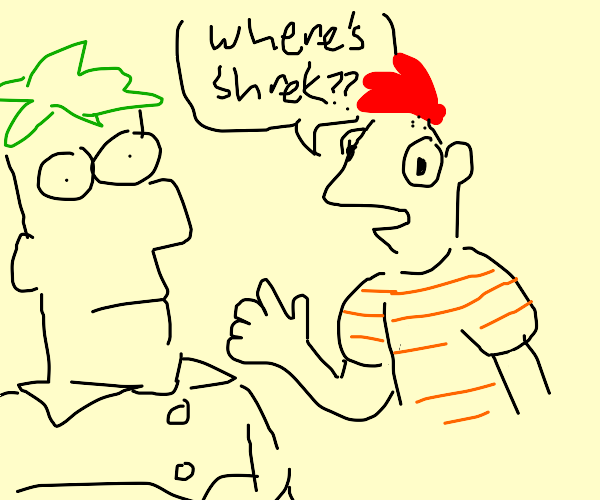 "Phineas & Ferb,""Hey I wonder where Shrek is?"""