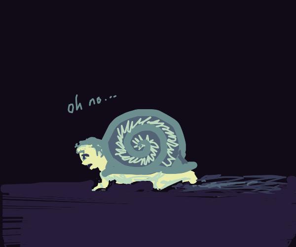 human snail says oh no