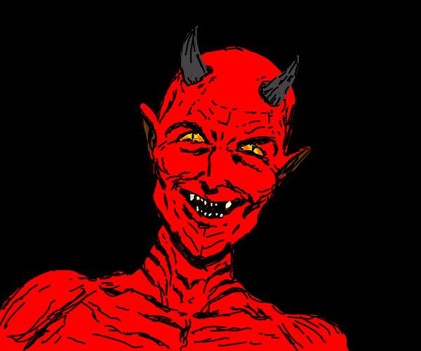 satan laughing