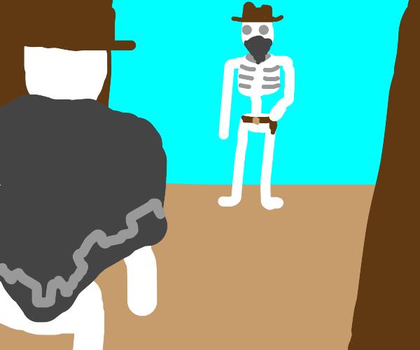 Cowboy skeleton duel
