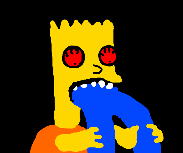 Bart eating jeans
