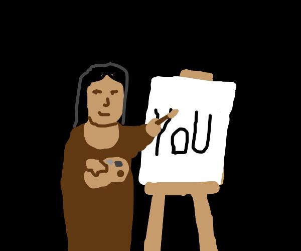 the mona lisa paints YOU