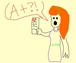 Daphne aced her test