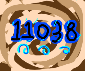 11037 with swirls and a brown background