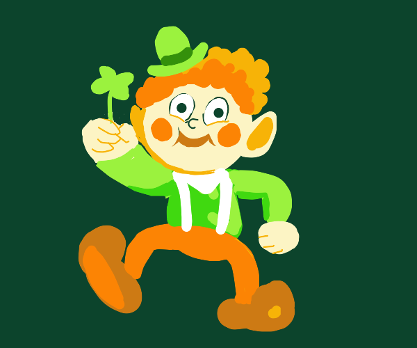 leprechaun gives u lucky clover
