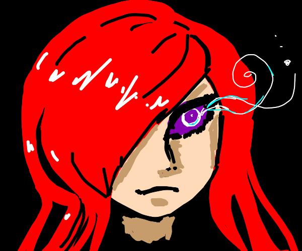 purple mystical eye