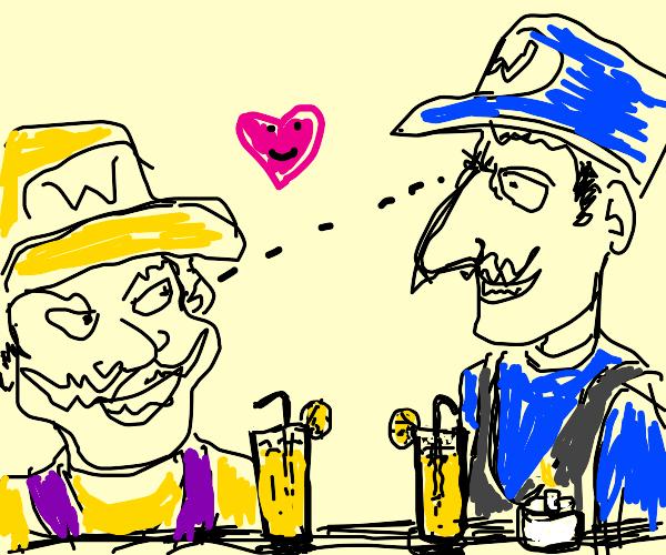 Waluigi & Wario on a date