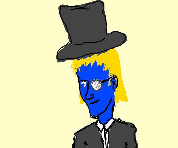 Bourgeois blue man