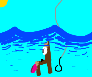 fishing for a dog chair