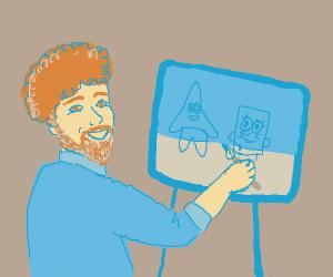 Dude paints Spongebob and Patrick