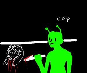 alien regrets killing its human lover