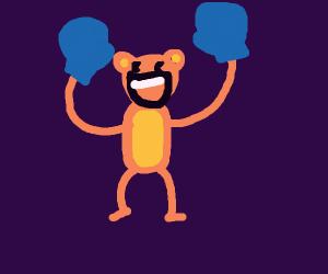 Way Too Happy Wrestler Monkey