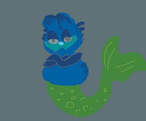 garfield as a blue mermaid