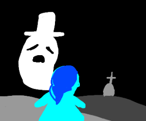 Ghost guides kid to her grave