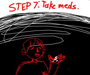 step 6: get some Rest after puking