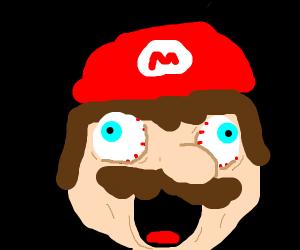 Mario screaming - Drawception