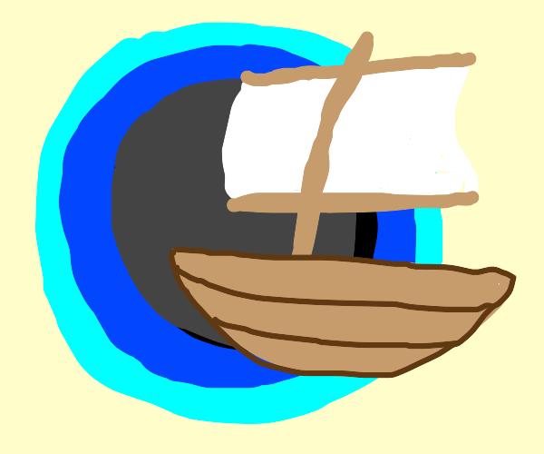 Boat travels through dimensional rift