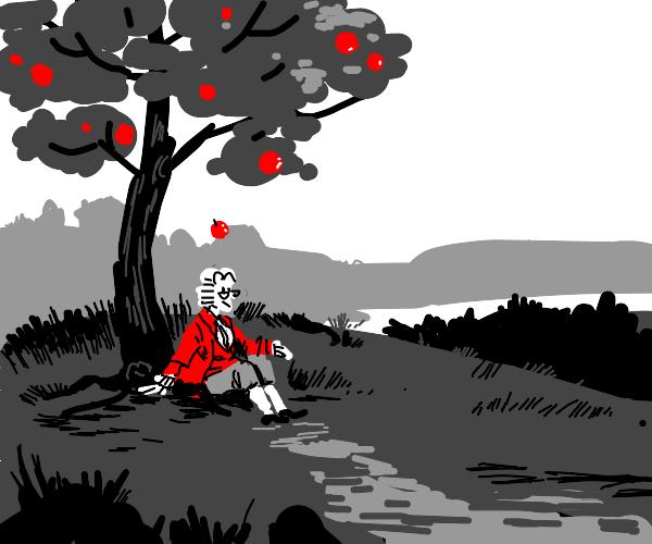 apple falls on newton