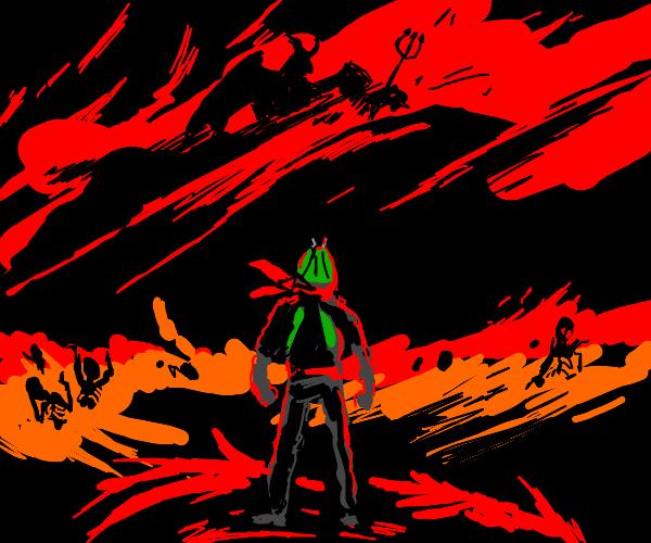 kamen rider in hell