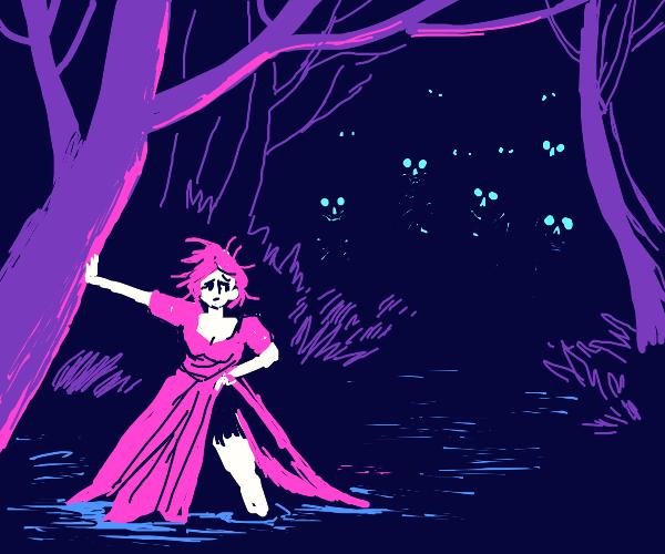 undead forest creatures stalk princess