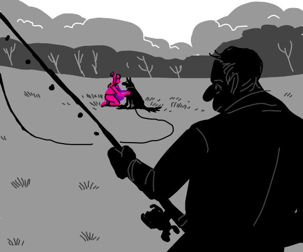 Fishing for Pink girls