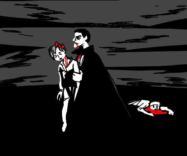 Vampire kills children