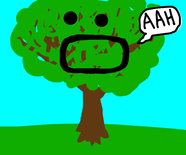 Screaming tree with :0 face