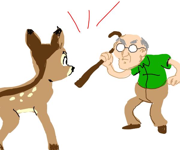 Bambi vs an old man