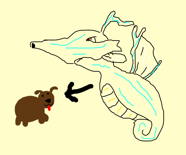 Water dragon becomes a dog