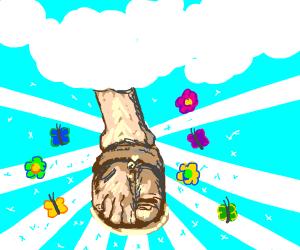 God's feet smell