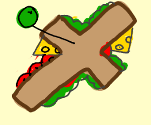 Seems to be a sandwich cross but maybe NSFW