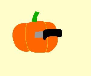 Stabbed pumpkin