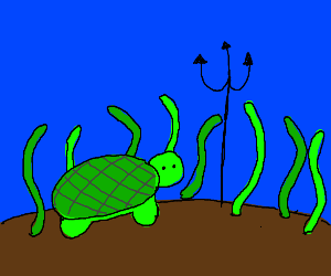Turtle has got a trident