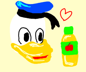 Donald Duck loves apple products