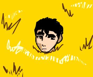 Kenshiro hiding in hay