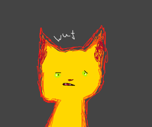 Scary fire kitten has bad hearing