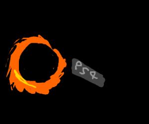 Playstation sucked into black hole