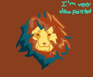 Disappointed lion