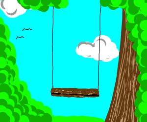 An empty swing....