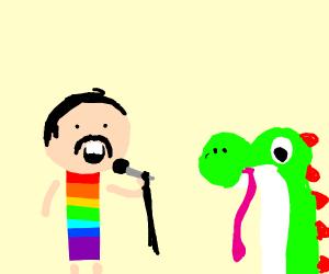 Freddie Mercury & Yoshi