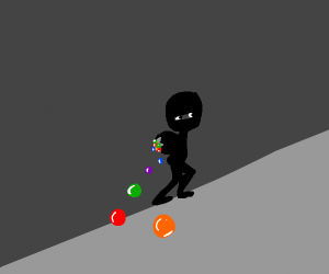 Stealing colourful balls